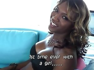 Tgirl Chanel Couture in interracial sex