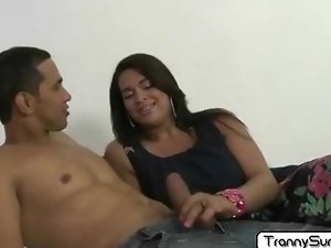 Tranny Bruna got her ass pounded